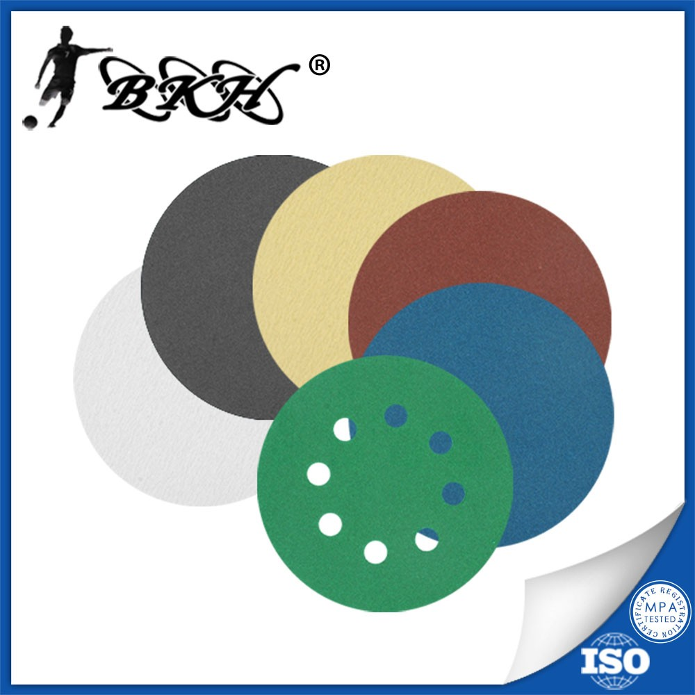 aluminum oxide metal sanding discs 180mm with hook and loop fastener backed sand paper