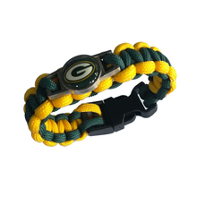 Factory Direct Handmade Charm Bracelet NFL Paracord Bracelet With Competitive Price