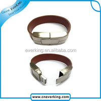 custom logo leather bracelet usb flash drive with high speed