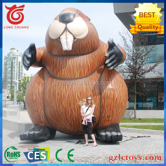 2016 promotion Advetising giant animal replica inflatable Beavers for sale