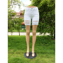 Royal wolf factory bulk wholesale cotton short shorts dropshipping white sexy girls tight jeans shorts