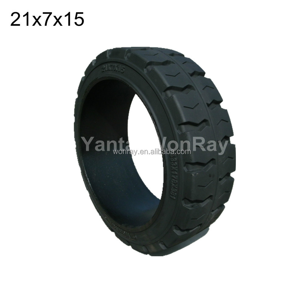 21x7x15 Press On Solid Tyre, TR Pattern