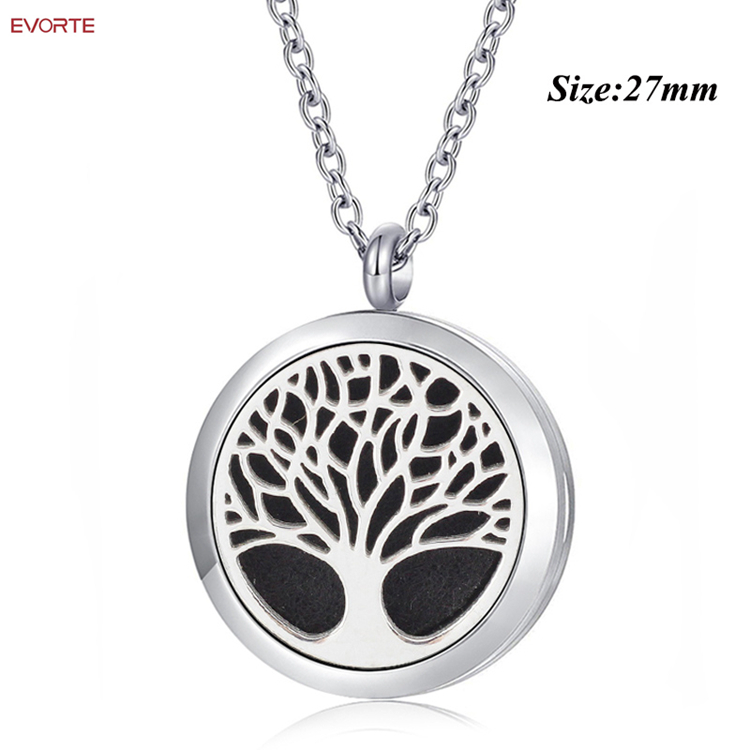 Cheap Wholesale Women Necklace <strong>Jewelry</strong> 316L Stainless Steel Aromatherapy Locket Pendant Necklace