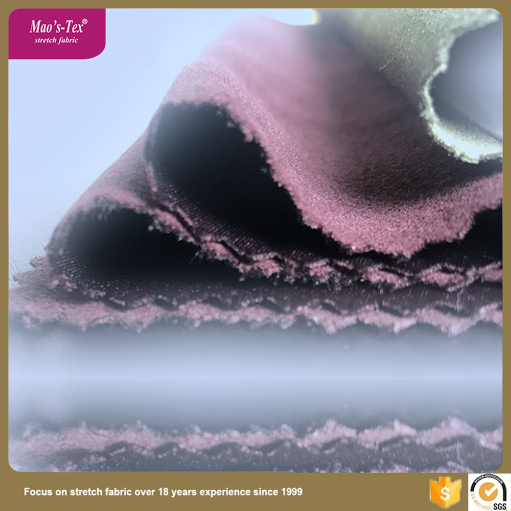 China supplier 200D satin design 100 polyester 4 way spandex fabric for fashion garment