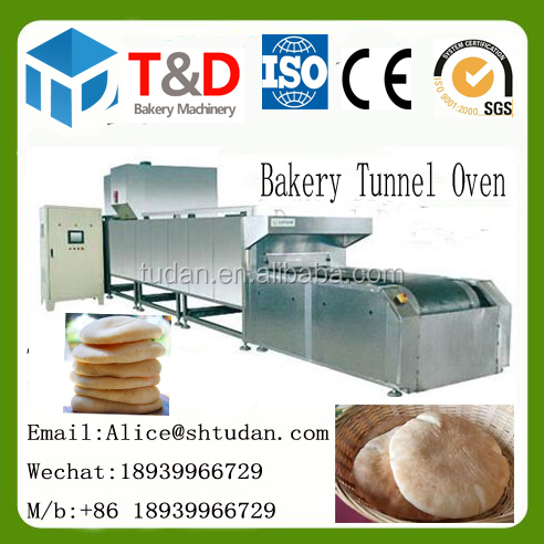T&D Food industry bakery equipment china commercial pita bread tunnel oven arabic pita bread gas bakery tunnel oven