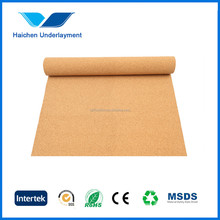 natural silent cork roll flooring underlay