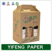 paper die cut window carton beer bottle packaging box