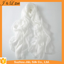 White Silk Scarf For Painting And Dyeing