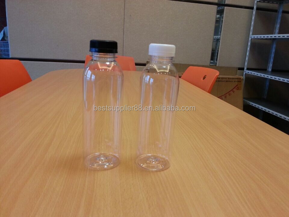 16oz round shape plastic juice bottle