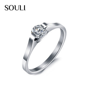 Hot Sale Jewelry Rings Stainless Steel Zircon Wedding Ring for Women