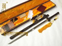Famous Monoply Store Chinese Longquan Sword Tang Dynasty Embony Folded Steel Sword Made by No. 1 Sword manufactuer AC0929