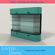 high quality free standing wood wall floating shelf with drawer
