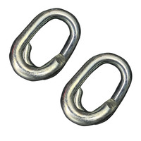 Zinc plated chain repair lap link