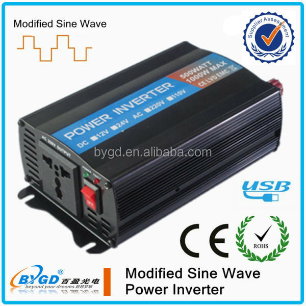 12v to 220v voltage converter 500w with ac5v USB charger