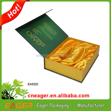Hot sale satin lined gift boxes with magnetic lid, high quality padded gift boxes