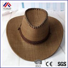 Summer Cowboy Hats For Men Straw General Large Shape Cowboy Hat Outdoor Casual Sun-shading Straw Braid Hat