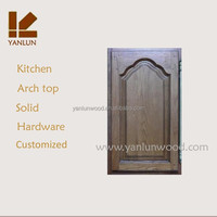 cheap price best sale solid teak wood arch top carved kitchen cabinet doors price