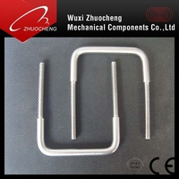 Customized zinc plated stainless steel square U bolt