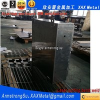XAX258Alu OEM ODM customized laser cut bend weld plate aluminum portable digital luggage weighing scale box