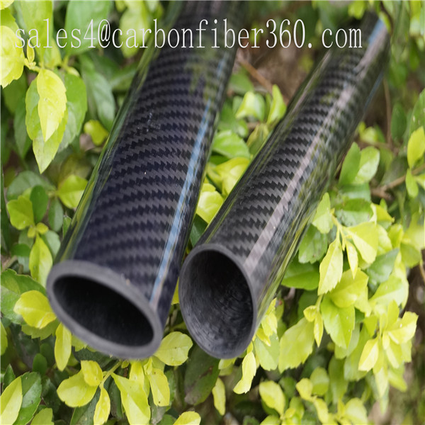 OEM, ODN custom exhaust carbon fiber parts 3k carbon oval pipe