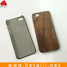 For wood iphone 5 case, plastic case with walnut wood plate insert