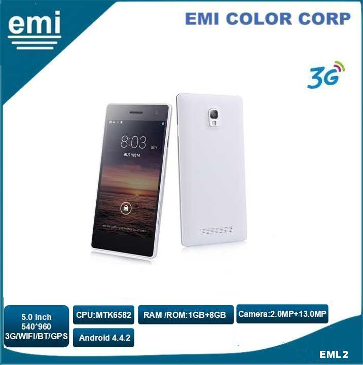 Camera 13.0MP 540 x 960 Pixels 5.0 inch Screen Smart Phone, Dual SIM Dual Standby 3G Mobile Phone