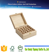 25 Slot Wooden Essential Oil Box/case, holds 25 5,10,15ml and 10ml Roller Bottles