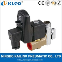 Automatic electronic timed air compressor condensate auto drain valve