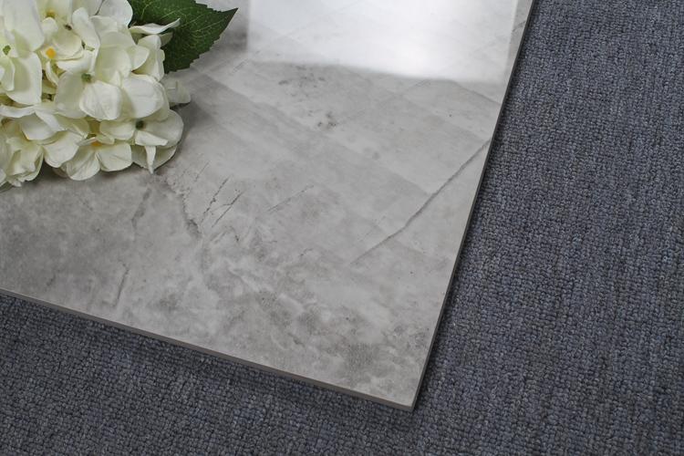 저렴한 바닥 타일 불산 중국 회색 광택 유리 Ceremic 바닥 타일 가격 델리