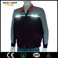 polyester long sleeve shirts mesh vest with pockets