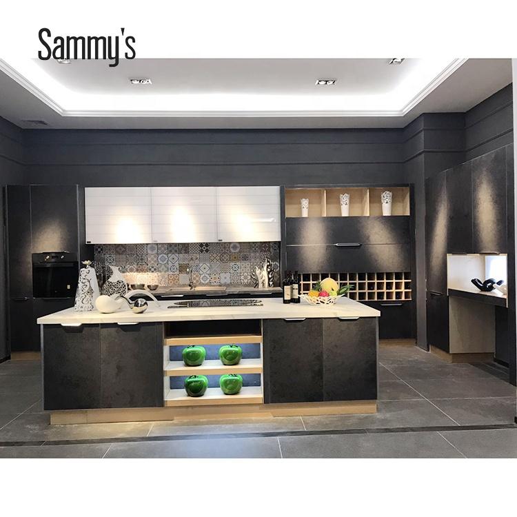 Small Kitchen Designs Aluminium Glass Modern Kitchen Cabinet Design