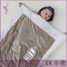 2 layers printed cotton baby quilt soft baby bedding quilt blanket