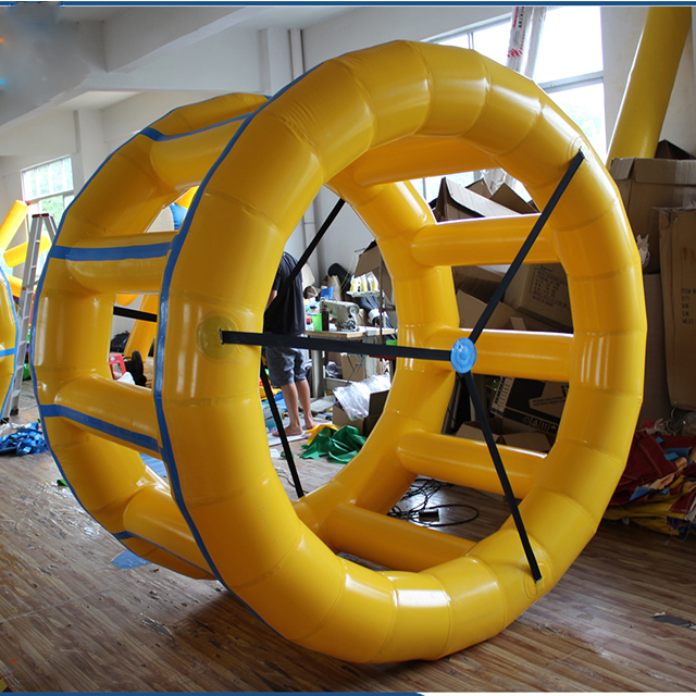 Inflatable Floating Water Roller For Water Toys Inflatable Water Rolling Wheel For Sale
