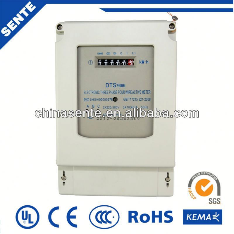DDS7666 single-phase din rail digital electric digital power meter energy meter for solar system