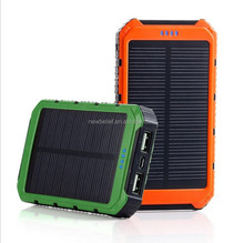 2016 best power bank external battery charger, solar power bank with led light