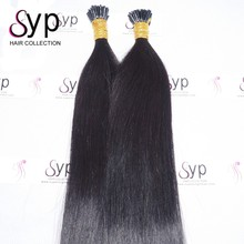 Remy U I Tip Itip Fusion Keratin Human Hair Extensions on Short Hair