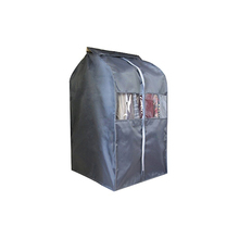 Garment shoulder cover dust cover hanging coat pocket suit storage bag with zipper