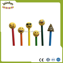 custom make Cartoon Shaped 3D PVC plastic custom Pen Pencil Topper