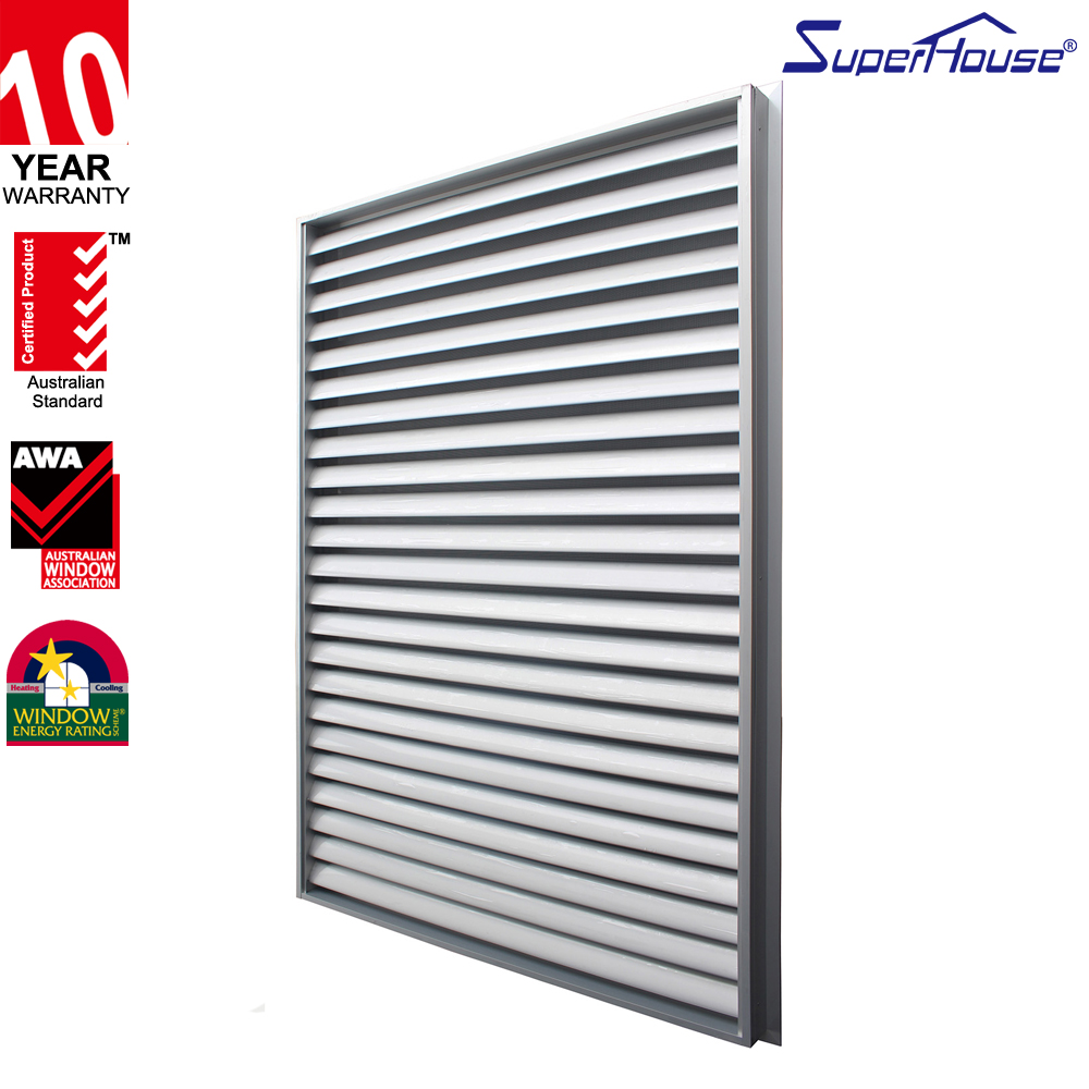China fatory best price louvered windows comply with AS2047 standard