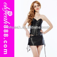 In stock no MOQ good quality leather corset sets