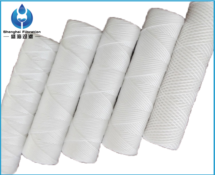 10 inch pp yarn string wound filter cartridge for water treatment