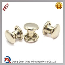 6mm Custom Belt Decoration Round Metal Rivets For Man Belt