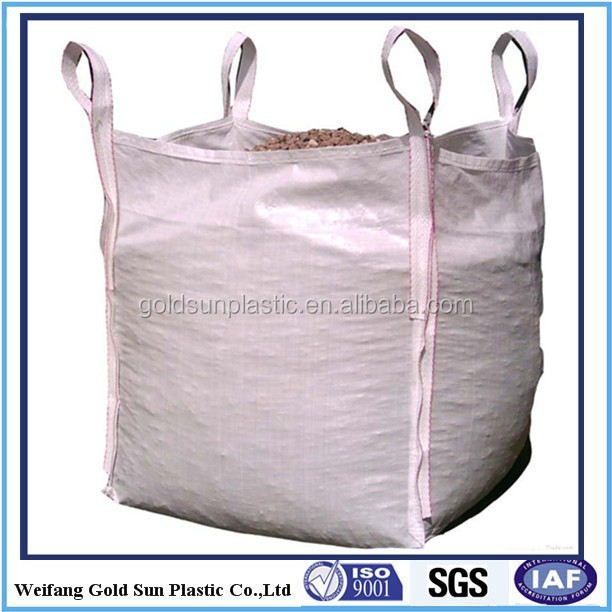Factory directly big bags 1000kg, 1 ton/pp 1000 kgs big bag for sand /recycled FIBC bag/bulk bag