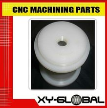 High quality high precision white plastic POM and PTFE micro CNC lathe and turning parts and fittings
