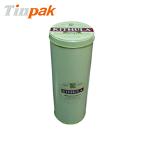 round storage tin container, noodle metal cylinder factory
