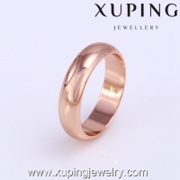 11908 Xuping fashion wedding Rose gold color o ring