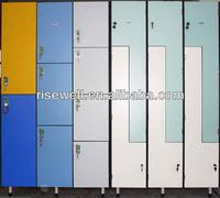 Z shape 2 tiers storage lockers