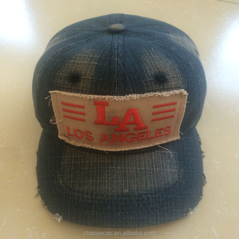 most popular denim basebll cap with embroidery