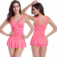Popular Young Girl Swimsuit Models Lady Beauti Sex One Piece Peach Swimsuit
