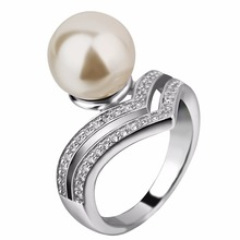 women pearl mountings 925 sterling silver design engagement ring